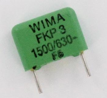 1500pF 630V Polypropylene Film Foil Capacitor FKP3 WIMA