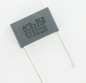1.0uF 275VAC X2 Polyester Suppressor Capacitor Arcotronics R40.KR.4100.50.M1.K