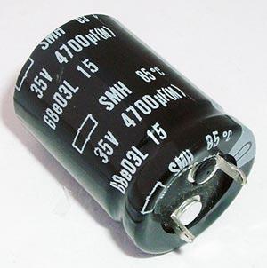 4700uF 35V Radial Snap In Electrolytic Capacitor Nippon ESMH350VSN472MP30S