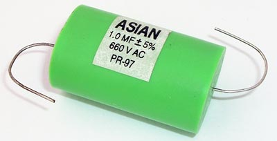 1.0uF 660VAC Axial Film Capacitor Asian PR-97