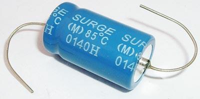 2200uF 25V Axial Electrolytic Capacitor Surge TEA222M1E