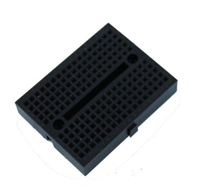 Black Solderless Breadboard Modular 170 Tie Points 1.84 in x 1.37 in
