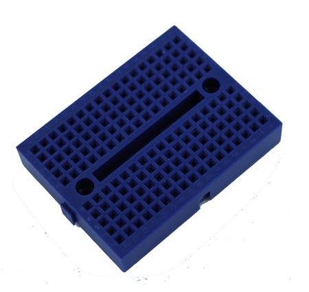 Blue Solderless Breadboard Modular 170 Tie Points 1.84 in x 1.37 in