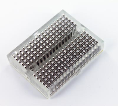 Clear Solderless Breadboard Modular 170 Tie Points 1.84 in x 1.37 in
