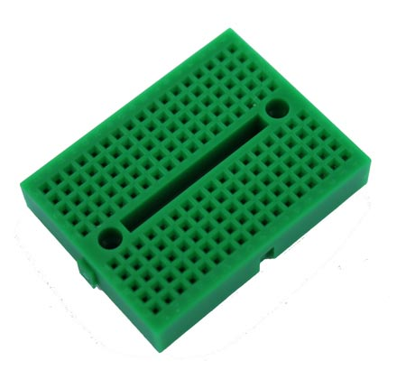 Green Solderless Breadboard Modular 170 Tie Points 1.84 in x 1.37 in