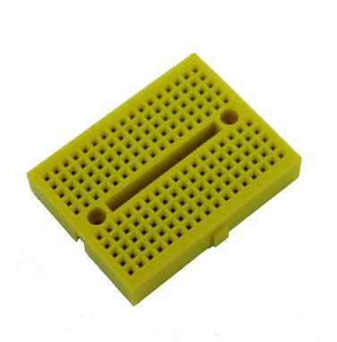 Yellow Solderless Breadboard Modular 170 Tie Points 1.84 in x 1.37 in
