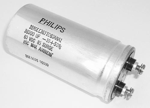 36000uF 60V Computer Grade Capacitor Philips 3186EE363T060ANA1