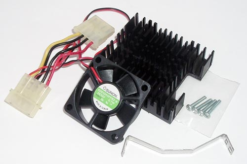 12VDC 60mA Brushless Fan with Removable Heatsink Sunon KDE1245PFB2-8