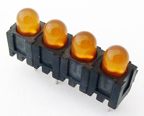 Yellow 5mm LED PCB Indicator Lamps QT Optoelectronics MR33509.MP8