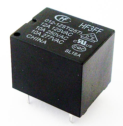 10A 12V Subminiature High Power Relay HF3FF⁄012-1ZST Hongfa