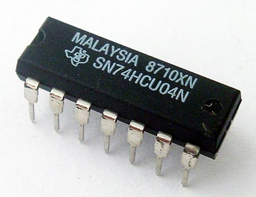 74HCU04N SN74HCU04N CMOS Hex Inverter IC Texas Instruments