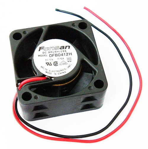 12V .10A 5 Blade DC Brushless Fan 40mm Delta DFB0412H