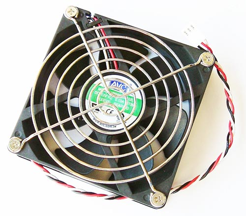 12V .13A Axial DC Cooling Fan with Grill AVC DS09225S12L