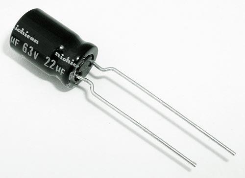 22uF 63V Non Polar Radial Electrolytic Capacitors Nichicon UVP1J220MPA1TA