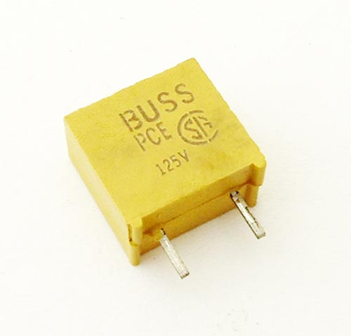 PCE-5 5A 125 VAC Fast Acting PCB Radial Fuse Bussmann