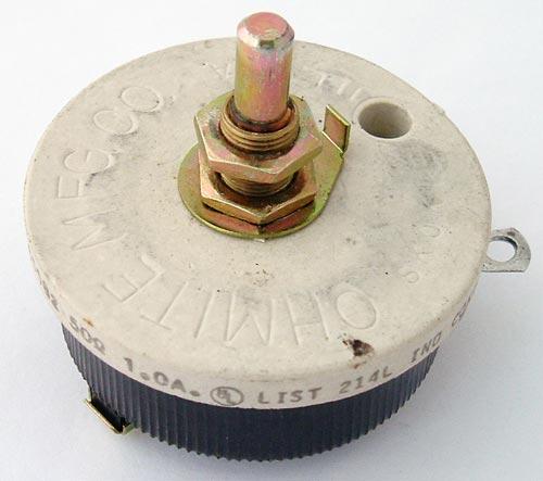 50 ohm Ohmite Wirewound Rheostat Potentiometer RJS50R