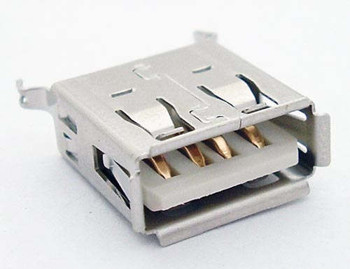 USB Connector PC Jack Vertical A Keystone #923