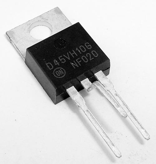 D45VH10G 15A 80V PNP Silicon Power Transistor ON Semiconductor