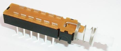 Push Button 4PDT Horizontal Latching Switch 1A 28V CIT DL4LCQ