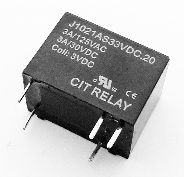 3A 3VDC SPST N.O. Relay CIT J1021AS33VDC.20