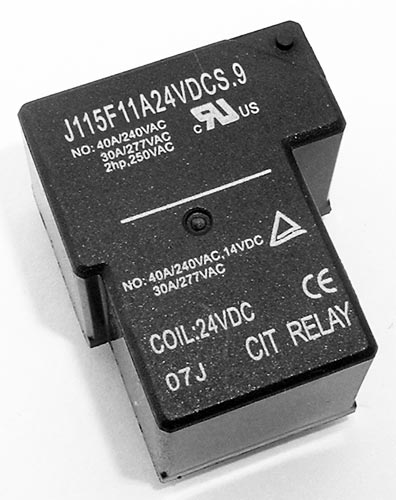 40A 24V SPST N.O. Relay UL Approved CIT J115F11A24VDCS.9