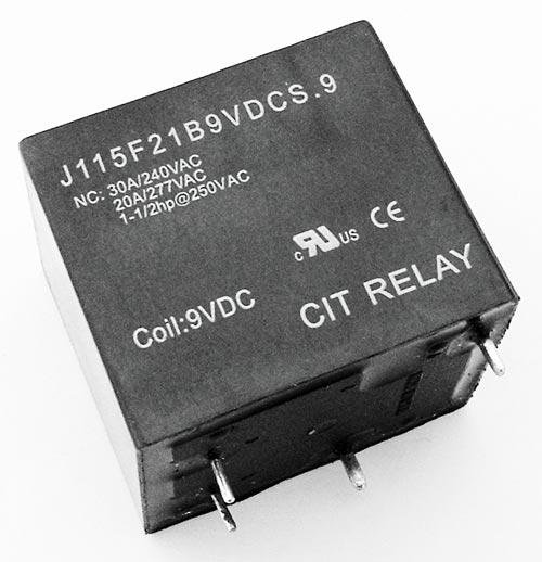 30A 9VDC SPST Relay PCB Mount CIT J115F21B9VDCS.9
