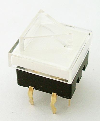 Pushbutton Switch White LED Illuminated 50mA 12V CIT JSWF