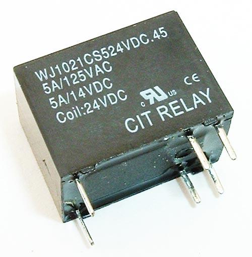 5A 24VDC Sealed SPDT Relay CIT WJ1021CS524VDC.45