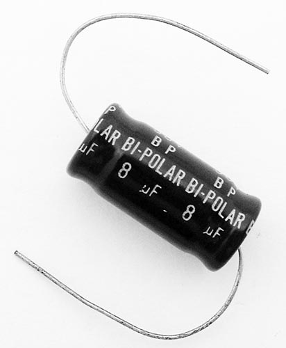 8.0uF 8mF 50V Non Polar Axial Electrolytic Capacitor Intercap