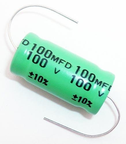 100uF 100mFD 100V Axial Non Polar Electrolytic Capacitor