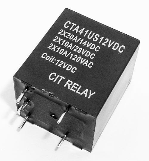 20A 12 VDC SPST N.O. Relay CIT CTA41US12VDC