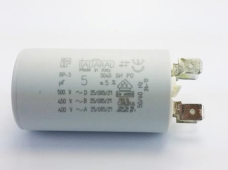 5uF 400V 450V 500V Motor Run Capacitor Italfarad RP-3 Series