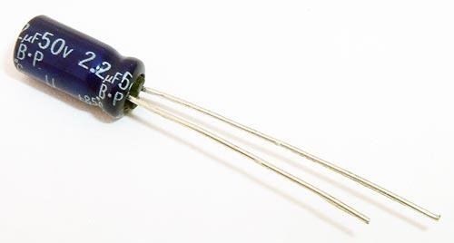 2.2uF 2.2mF 50V Non Polar Radial Electrolytic Capacitor Panasonic ECEA1HN2R2UH