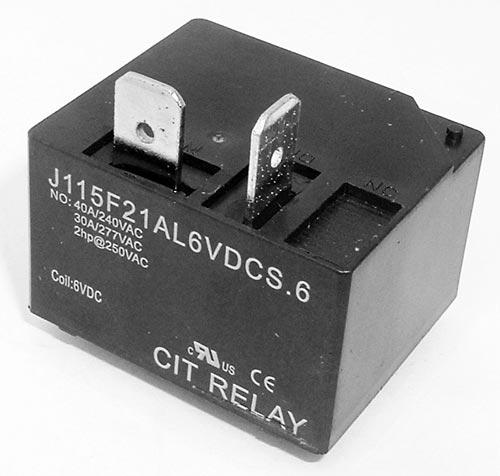 40A 6V SPST Relay N.O. CIT J115F21AL6VDCS.6