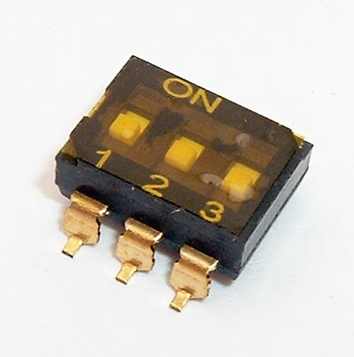 3 Position Surface Mount DIP Switch CIT KJ03RTT