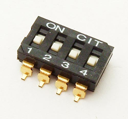 4 Position Surface Mount DIP Switch CIT KJ04RTT
