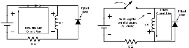 fly-back diode circuit