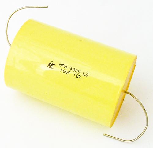 10uF 400V Axial Polypropylene Film Capacitor Illinois Capacitor 106MPH400K