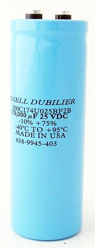 170000uF 25V Computer Grade Capacitor CDE 500C174U025BF2B