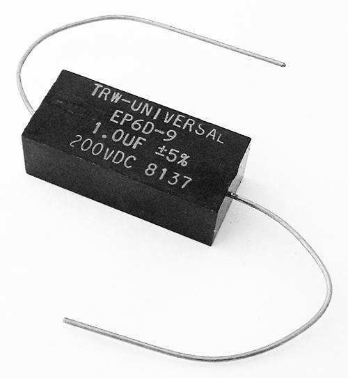 1.0uF 200V Axial Film Capacitor TRW-Universal EP6D-9