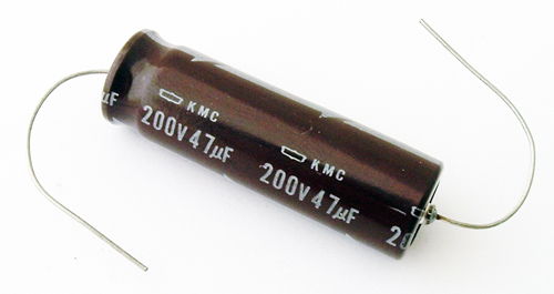 47uF 200V Axial Electrolytic Capacitor United Chemi Con KMC Series