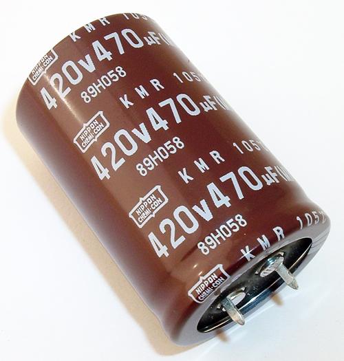470uF 420V Snap In Radial Electrolytic Capacitor Nippon Chemi-Con EKMR421VSN471MR45S