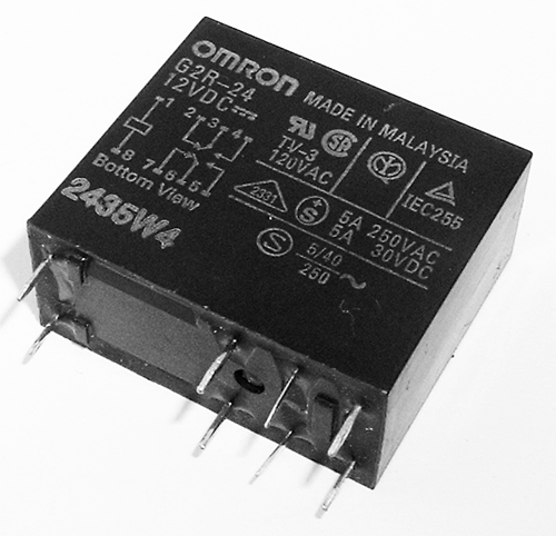 5A 12V PCB Mount Power Relay G2R-24