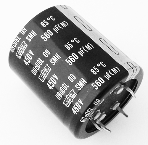 560uf 450v Radial Snap In Electrolytic Capacitor Nippon