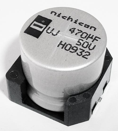 470uF 50V Surface Mount Aluminum Electrolytic Capacitor UUJ1H471MNL1MS