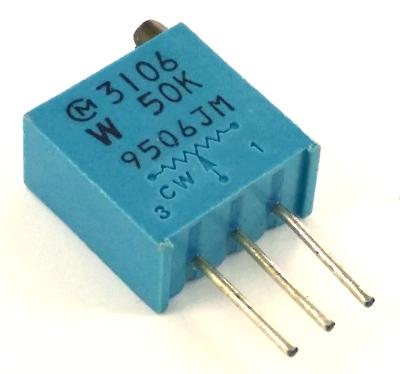 50K ohm .5W Trimpot Variable Resistor Top Adjust Murata® POT3106W-1-503 3106W-1-503