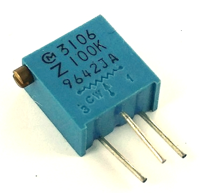 100K ohm Variable Resistor Trimpot  POT3106Z-1-104 3106Z-1-104