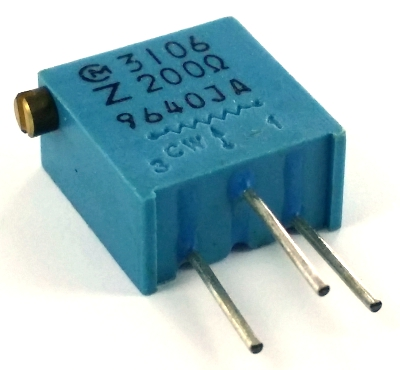 200 ohm Variable Resistor Trimpot Murata POT3106Z-1-201