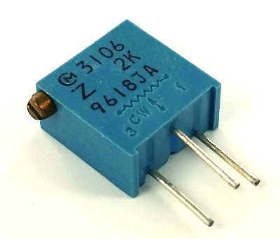 2K ohm Variable Resistor Trimpot Murata POT3106Z-1-202