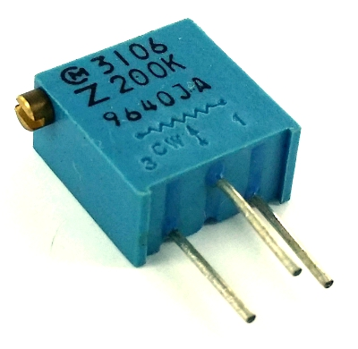 200K ohm Variable Resistor Trimpot  Murata POT3106Z-1-204